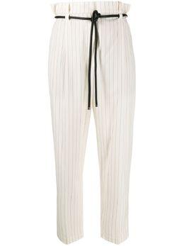 Brunello Cucinelli полосатые брюки с поясом MF589P7204C1902