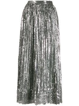 Marco De Vincenzo плиссированная юбка с пайетками MQ5226LMDVPL05