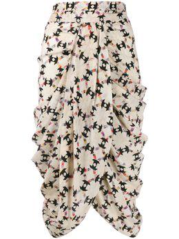 Isabel Marant стеганая юбка миди с драпировкой JU105819H025I