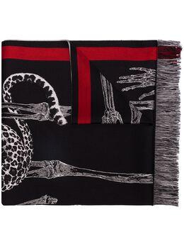 Alexander McQueen шарф с анималистичным принтом 6061943982Q