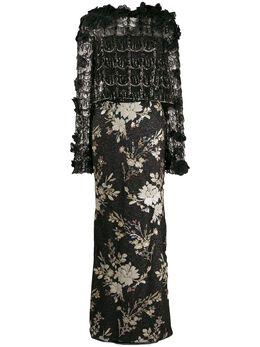 Talbot Runhof платье с контрастной отделкой TOLIMA1EE45