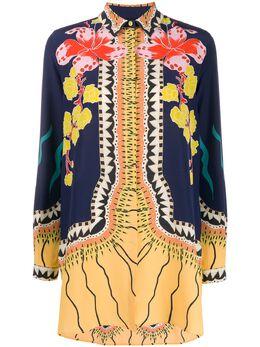 Etro блузка с цветочным узором и длинными рукавами 135549520
