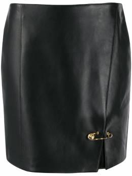 Versace юбка мини с декоративными булавками A85482A210037