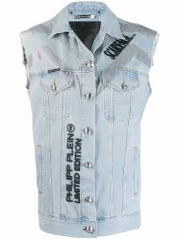 Philipp Plein джинсовый жилет Scarface F19CWDC0028PTE003N