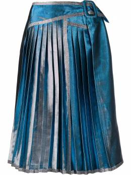 Marco De Vincenzo плиссированная юбка с эффектом металлик MQ5230MDVAC01
