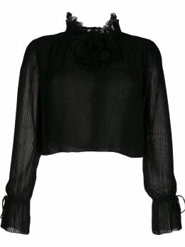 Marco De Vincenzo полупрозрачная блузка MS5113MDVPL07