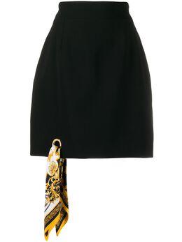 Versace юбка A-силуэта с принтом Barocco A85624A213159
