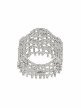 Aurelie Bidermann 18kt white gold Vintage Lace diamond ring LACBR05WG