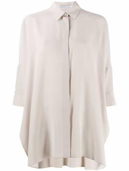 Agnona блузка свободного кроя с рукавами три четверти U4104D605OY