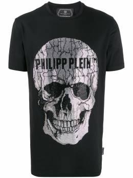 Philipp Plein декорированная футболка с короткими рукавами S20CMTK4337PJY002N