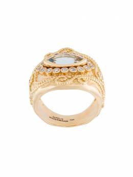 Aurelie Bidermann кольцо 'Cashmere' с аквамарином и бриллиантами CASBA01GV07