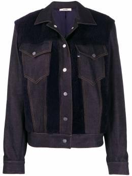 Zilver джинсовая куртка со вставкой из овчины RE20WJK03B