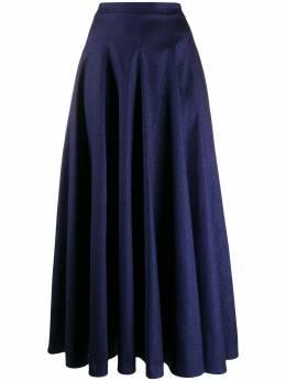 Talbot Runhof блестящая юбка макси BEBOP1DG15