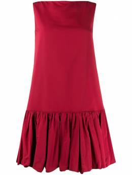 Valentino платье мини с баской TB3VALL54H2