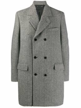 Dolce&Gabbana двубортное пальто с узором шеврон G008GTFCMBQ