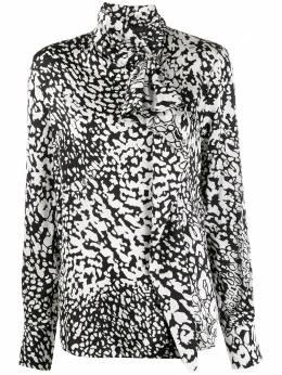 Escada блузка с абстрактным принтом и воротником-стойкой 5032587