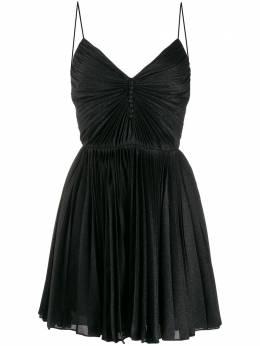 Saint Laurent плиссированное платье мини 573381Y044J