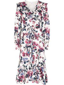 Erdem платье Jerridine с запахом и принтом PS2021318RBSJ