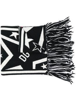 Dolce&Gabbana шарф DG Star с бахромой GX810TJAMK5