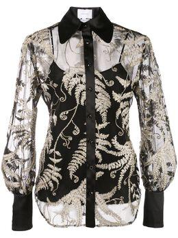 Marchesa блузка с вышивкой M27412C