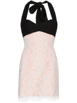 Rasario кружевное платье мини с вырезом халтер 0016S202