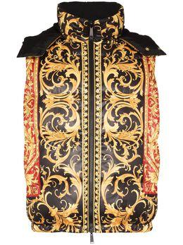 Versace двусторонний дутый жилет с принтом Baroque A84351A232533
