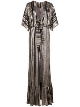 Patbo платье макси в полоску с эффектом металлик VES2443US
