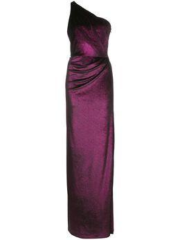 Marchesa Notte платье на одно плечо с драпировкой N35G1112