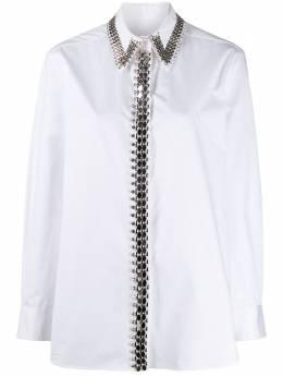 Christopher Kane декорированная рубашка RE20SH253TAILOREDCOTTONWHITE