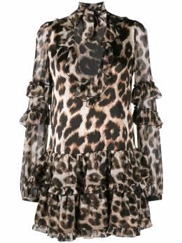 Philipp Plein платье-мини с леопардовым принтом S19CWRG0927PTE043N