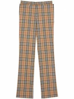 Burberry брюки прямого кроя в клетку Vintage Check 8022545