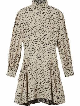 Proenza Schouler платье с длинными рукавами и анималистичным принтом R2013029BYP137