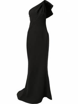 Maticevski длинное платье Accompany на одно плечо GO448019