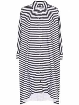 Rosetta Getty платье миди в полоску 11205G7565