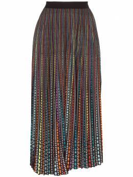 Mary Katrantzou плиссированная юбка миди с геометричным принтом NS051UNISKIRT