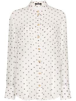 Balmain полупрозрачная рубашка в горох TF12654I334