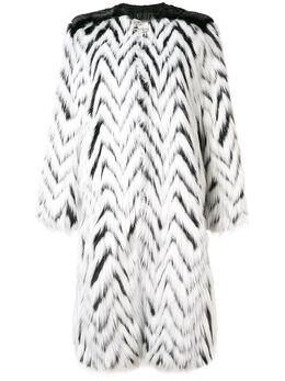 Givenchy длинная шуба из искусственного меха BWC01V10Y8