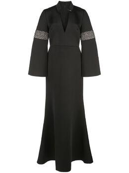 Badgley Mischka приталенное вечернее платье с разрешенным подолом EG2812A