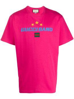 Gucci футболка с принтом Gucci Band 565806XJB2W