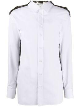 Maison Margiela рубашка с кружевной отделкой на спине S51DL0325S44720
