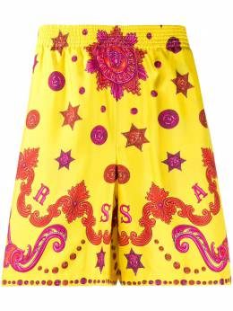 Versace плавки-шорты с принтом Baroque Western A84097A232646