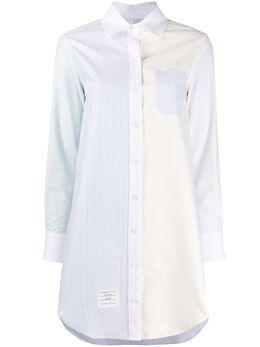 Thom Browne удлиненная рубашка в полоску FDSB31F00098