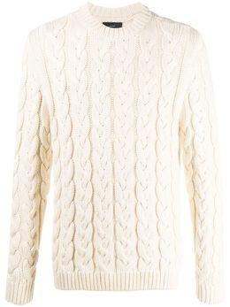 Alanui свитер фактурной вязки с круглым вырезом LMHE003S200890180101