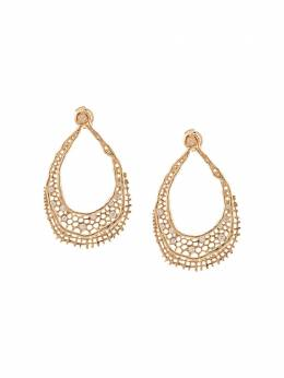 Aurelie Bidermann 18kt yellow gold & diamond lace earrings LACBO05DIYG