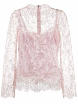 Dolce&Gabbana кружевная блузка с блестками F74D2THLM07