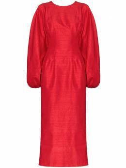 Rasario платье миди с пышными рукавами 0004S204