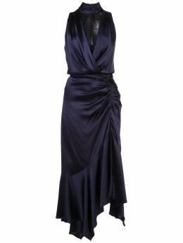 Jonathan Simkhai платье с кружевными вставками и сборками 1201089H