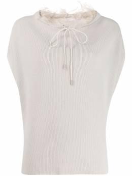 Fabiana Filippi свитер с короткими рукавами и оборками MAD260W1260000A505
