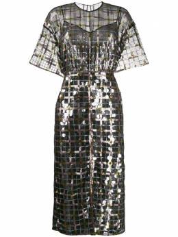 Marco De Vincenzo полупрозрачное платье с пайетками MD5482MDVPL03