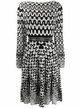 Missoni расклешенное платье с геометричным принтом MDG00488BR007H